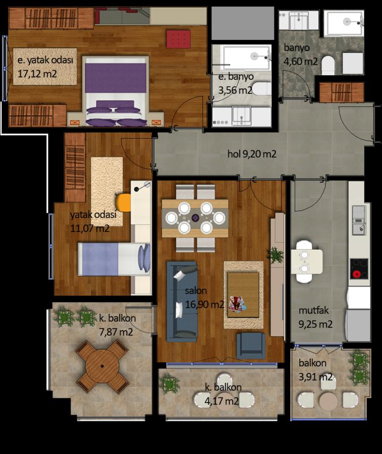 شقة 1+2