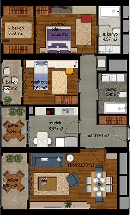 شقة 2+1