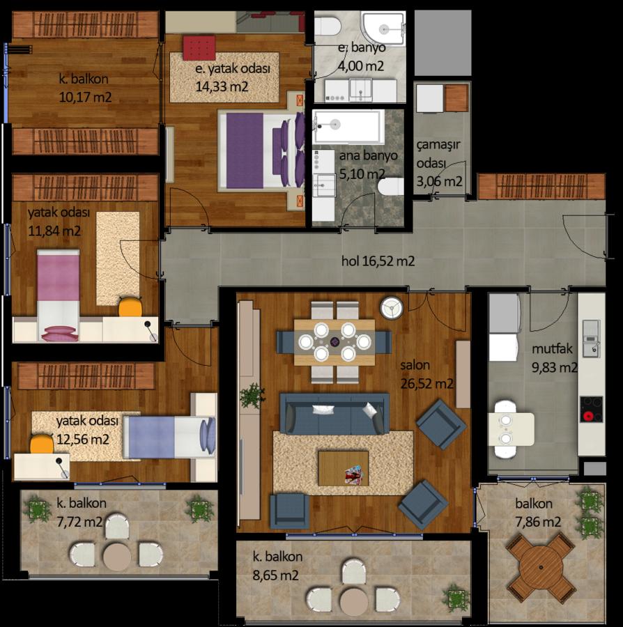 شقة 3+1